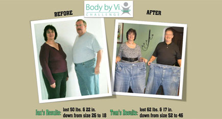Tom and Jan Hibbard – Body by Vi Champions April 2011