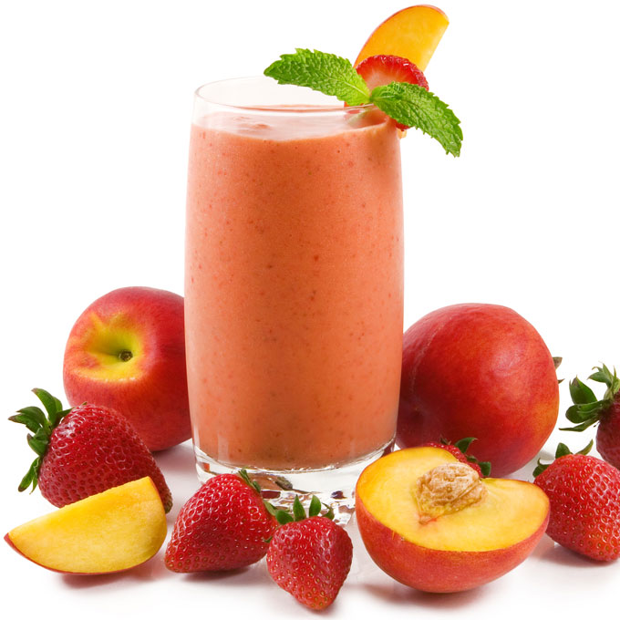 Peach Strawberry Cream Shake