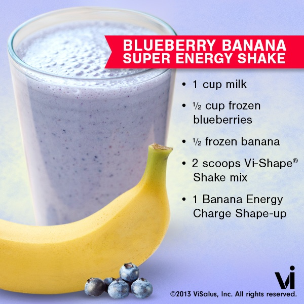 ViSalus Shakes – Blueberry Banana Super Energy Vi-Shake Recipe
