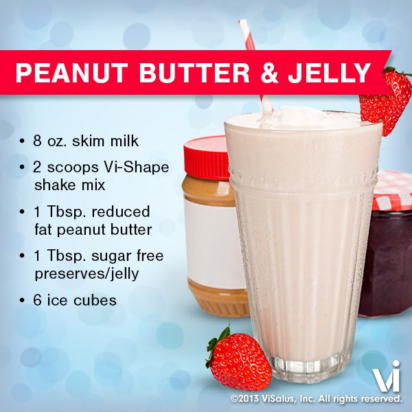 Peanut Butter & Jelly ViSalus Shake Recipe