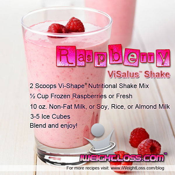 ViSalus Raspberry Shake Recipe