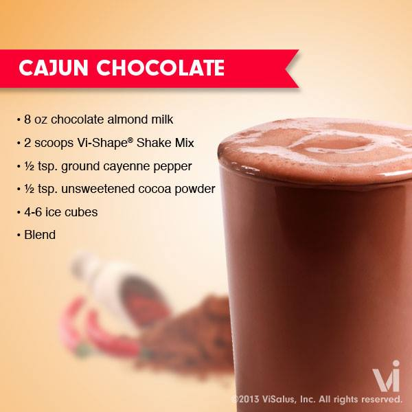 ViSalus Shakes – The Cajun Chocolate Vi-Shake Recipe