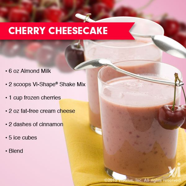 Vi-Shake Cherry Cheesecake