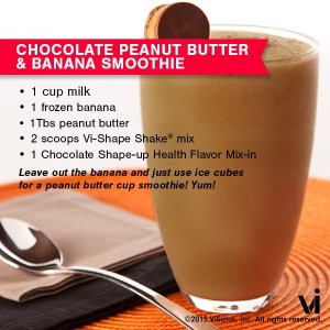 Chocolate Peanut Butter and Banana Vi-Shake