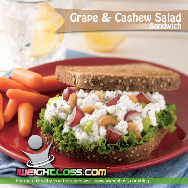 Grape and Cashew Sandwich