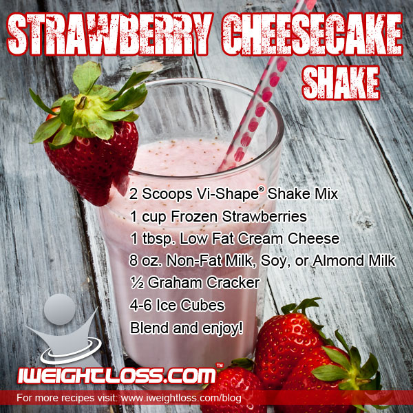 ViSalus Strawberry Cheesecake Shake