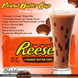 Peanut Butter Cup Shake Recipe