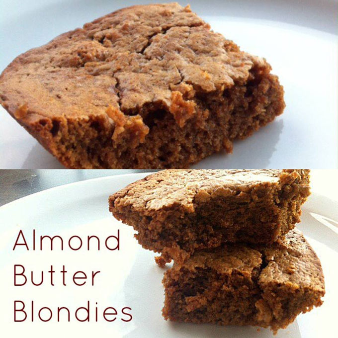 Almond Butter Protein Blondies Recipe
